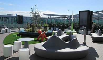 Bristol International Airport, Departure Lounge Outside Terrace