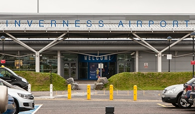 Inverness Airport Advertising, HIAL, Terminal Front
