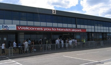 Norwich Airport Advertising, Airside Arrivals, Airport Apron