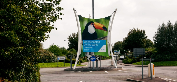 Bristol International Airport, KLM, Large Banner, External Roundabout Advertising