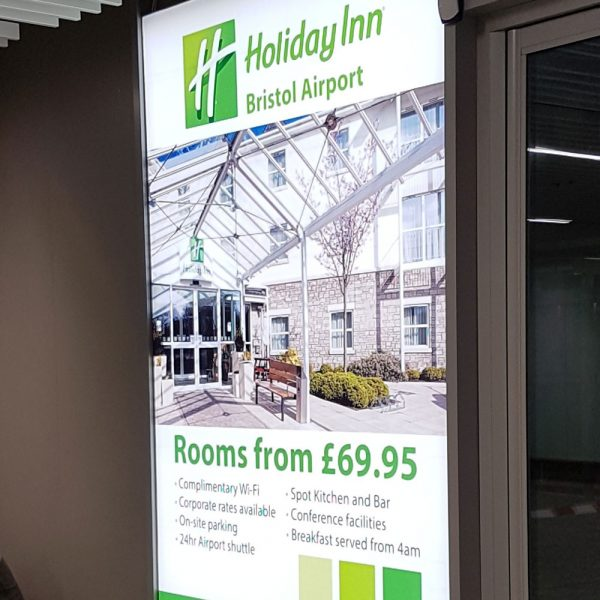 Holiday Inn, Bristol Airport Advertising, All Arrivals Corridor