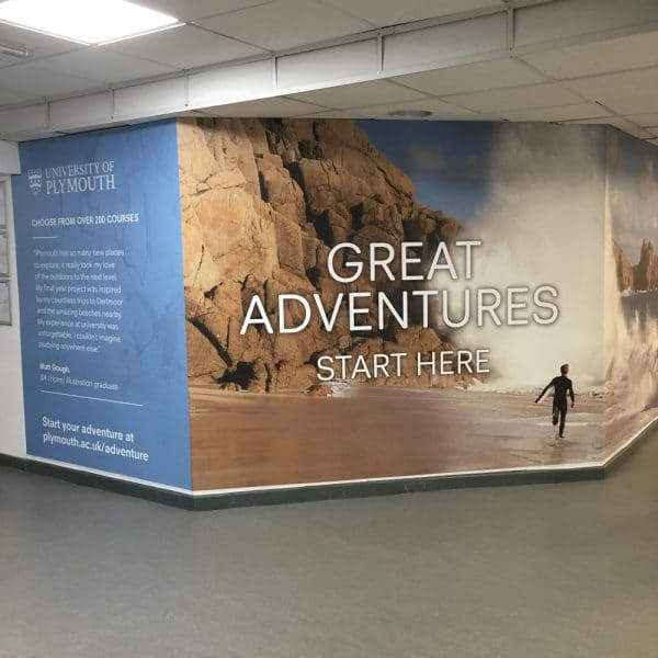 Plymouth University, Exeter Airport Advertising, Check In, Large Wall Wrap
