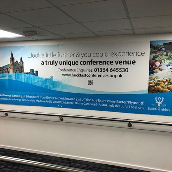 Buckfast Abbey, Exeter Airport Advertising, All Departures Corridor, Foamex Panel