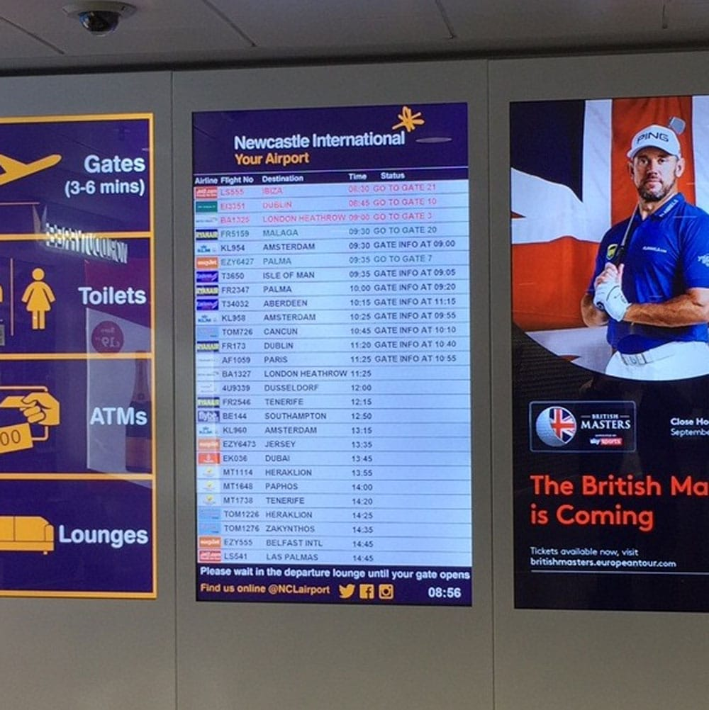 Advertising at Newcastle Airport