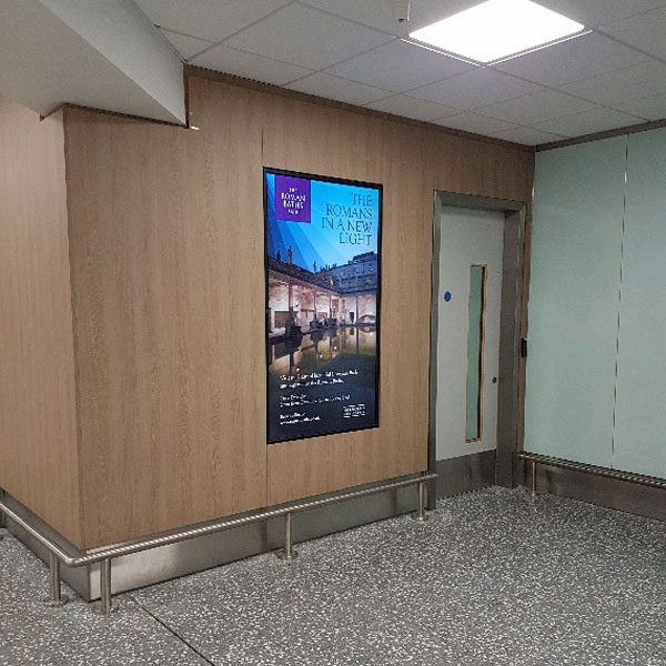 Bristol Airport Advertising Roman Baths Attraction