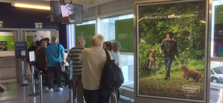 Barbour Airport Advertising with Eye Airports