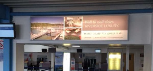 Dart Marina Airport Advertising with Eye Airports