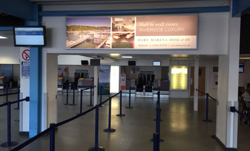 Dart Marina Luxury Hotel and Spa, Exeter International Airport, Large Lightbox, Airport Check In