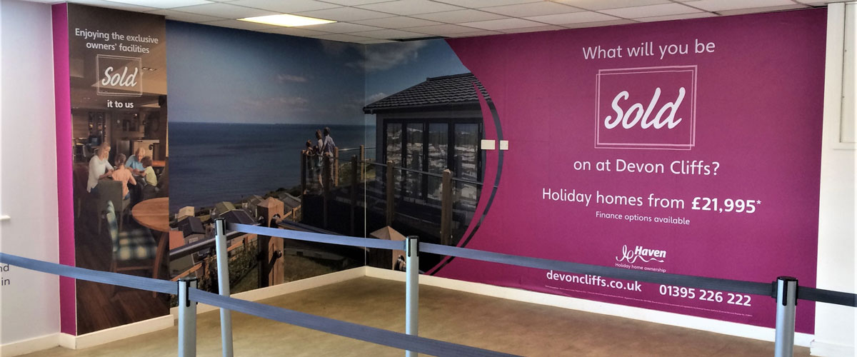 Wall Wrap, Exeter Airport, Security Screening, Devon Cliffs Holidays