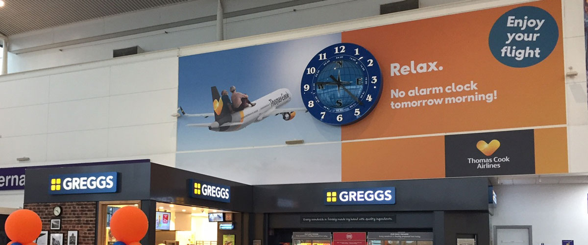 Thomas Cook, Newcastle International Airport, Scheduled Check In, Clock Sponsorship