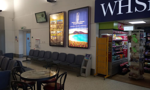 LHH Ltd, Inverness Airport, Departure Lounge, 6 Sheet Lightbox