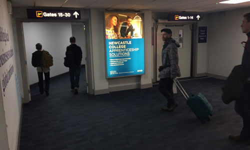 Newcastle College Advertising with Eye Airports