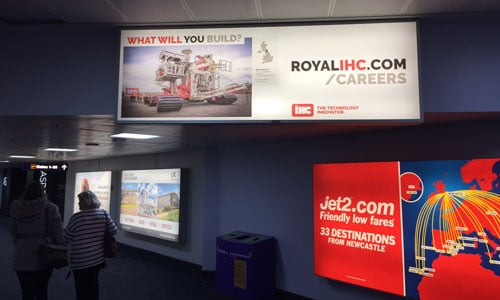 Royal IHC Limited, Newcastle International Airport, All Departures Corridor, Large Lightbox